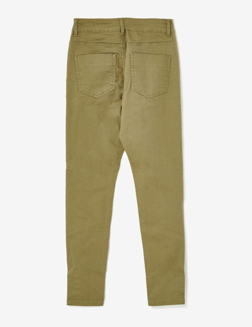pantalon avec oeillets kaki