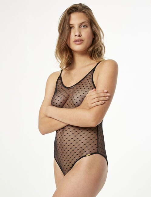 Swiss dot bodysuit