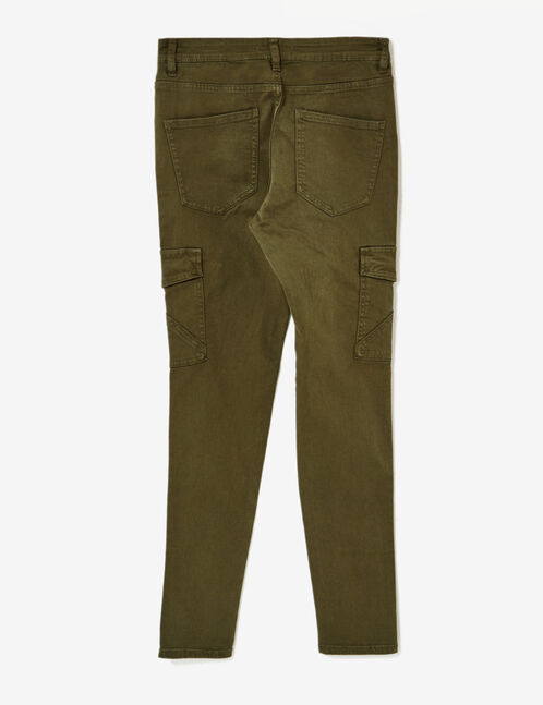 Khaki cargo trousers with pockets