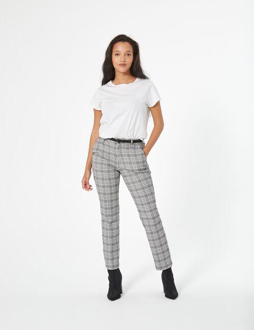 pantalon ville à carreaux