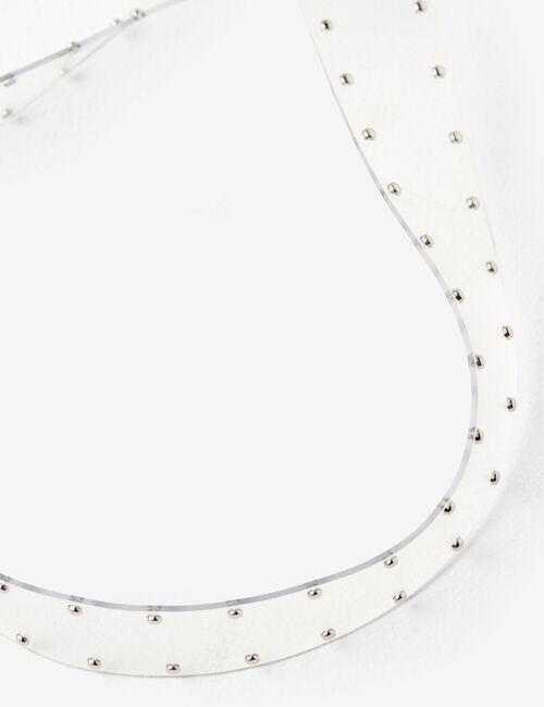 Studded transparent belt