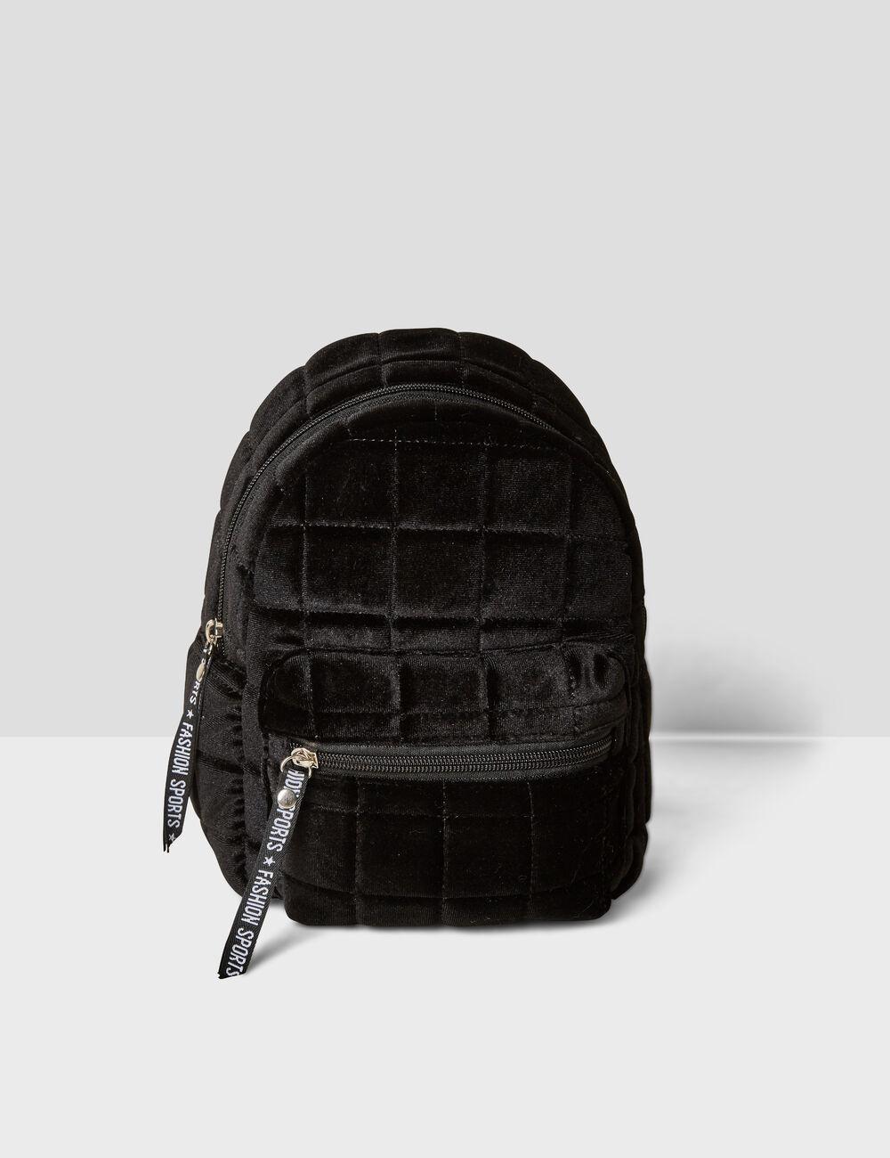 Small black velvet backpack woman • Jennyfer 9bceba68ef3