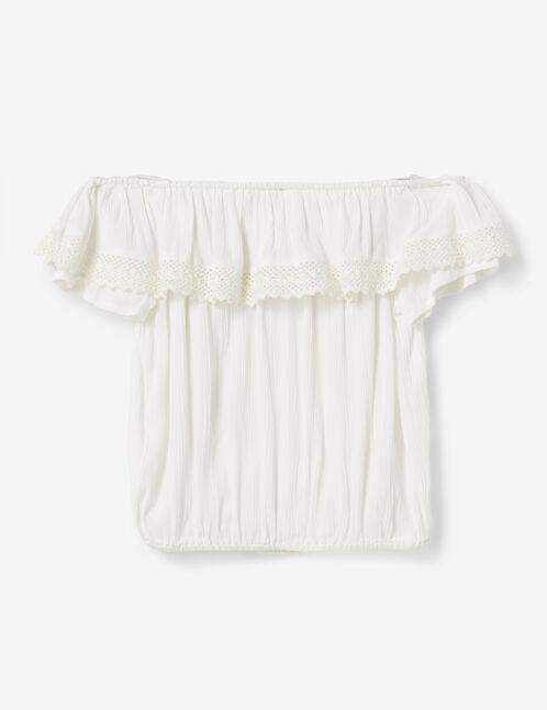 blouse brodée écrue