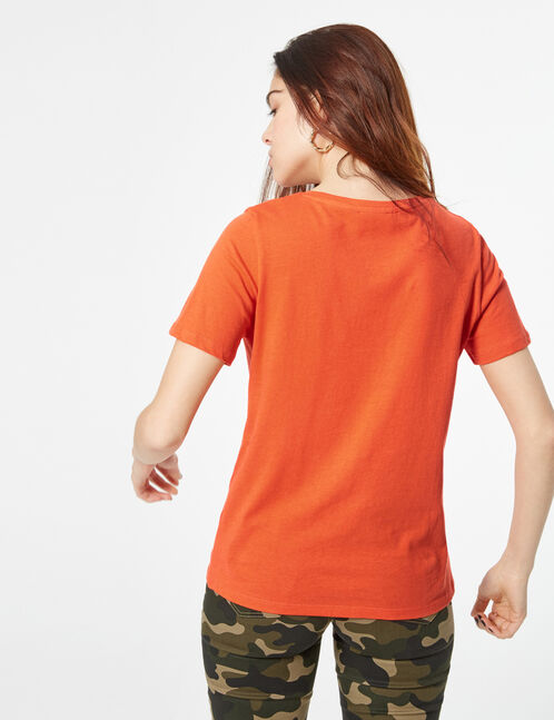 T-shirt with slogan