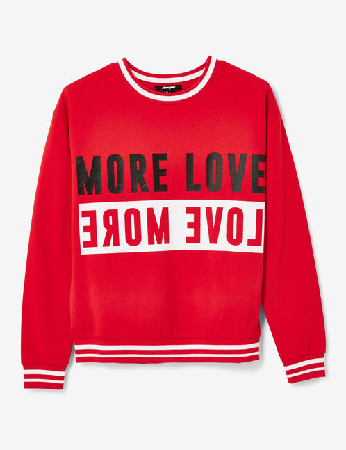 sweat more love rouge et blanc