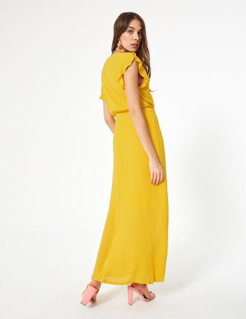 robe cache cœur ocre