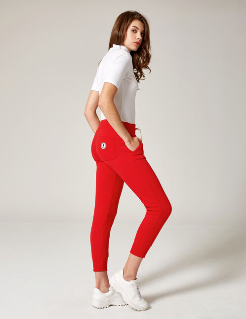 Red joggers