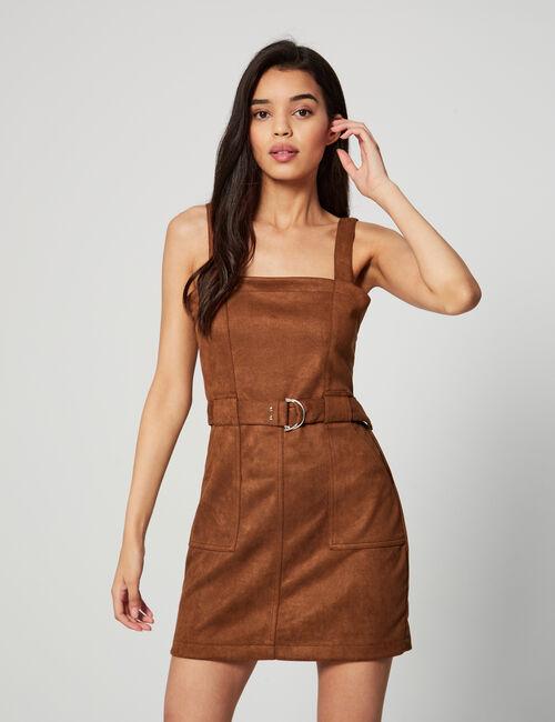 Suedette dress