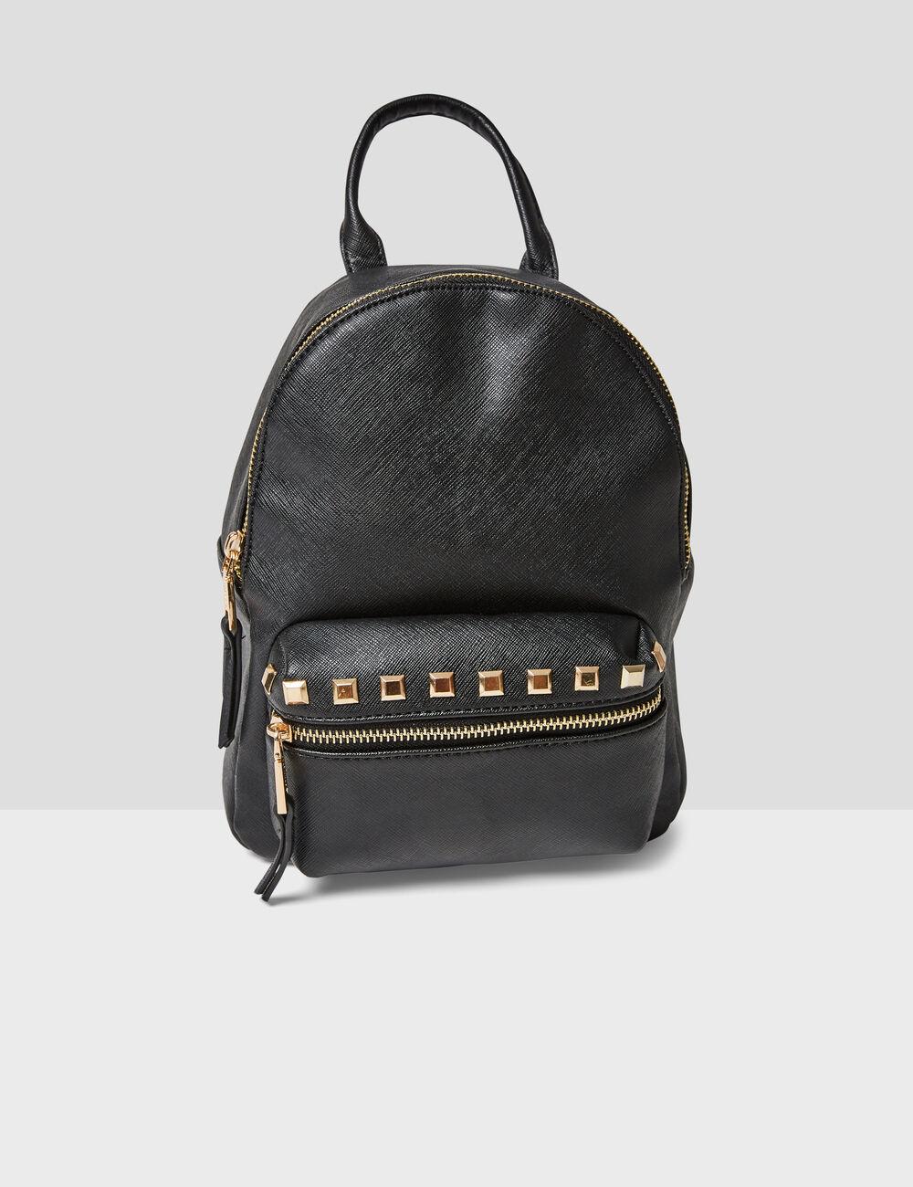 Petit sac à dos clouté noir femme • Jennyfer 34caa272c2d