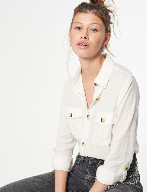 chemise avec poches