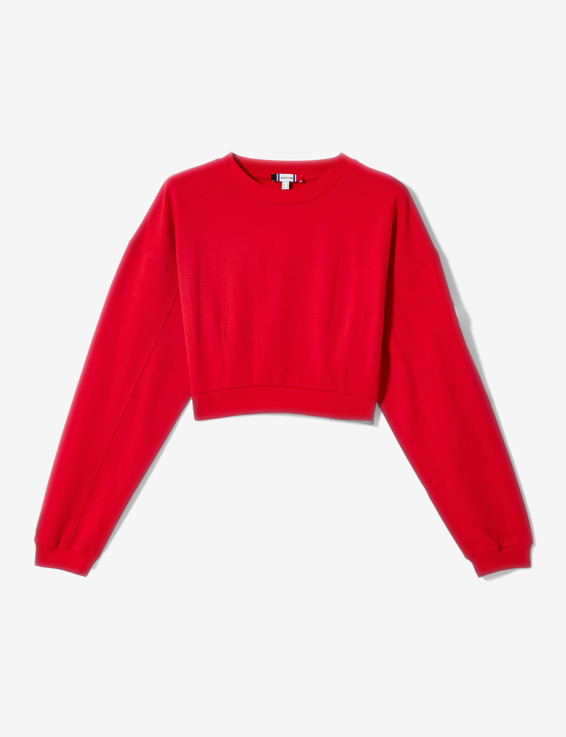 Cropped red sweatshirt