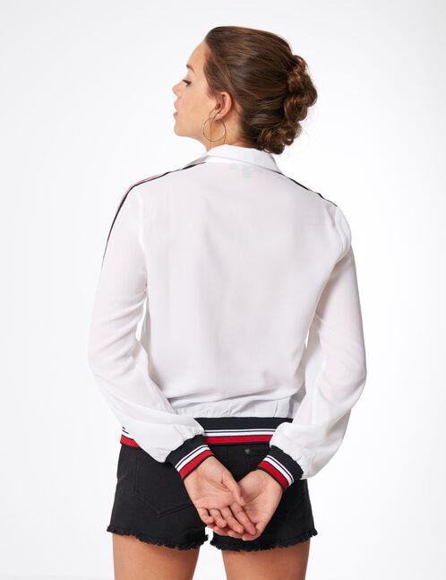 blouse zippée blanche