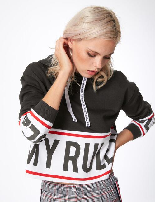 """Black """"my rules"""" hoodie"""