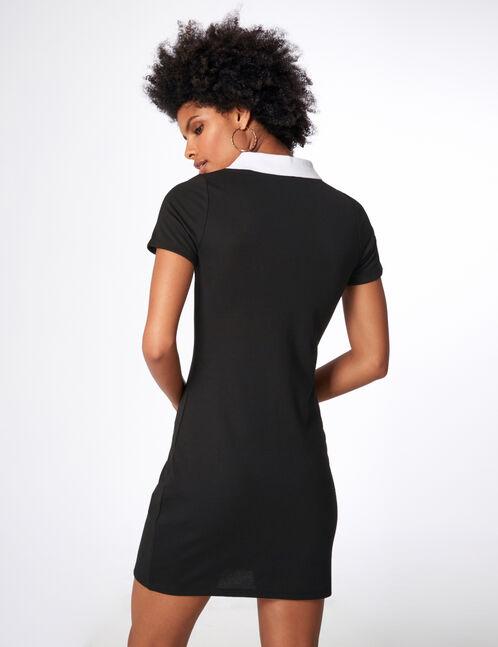 Black and burgundy sporty dress