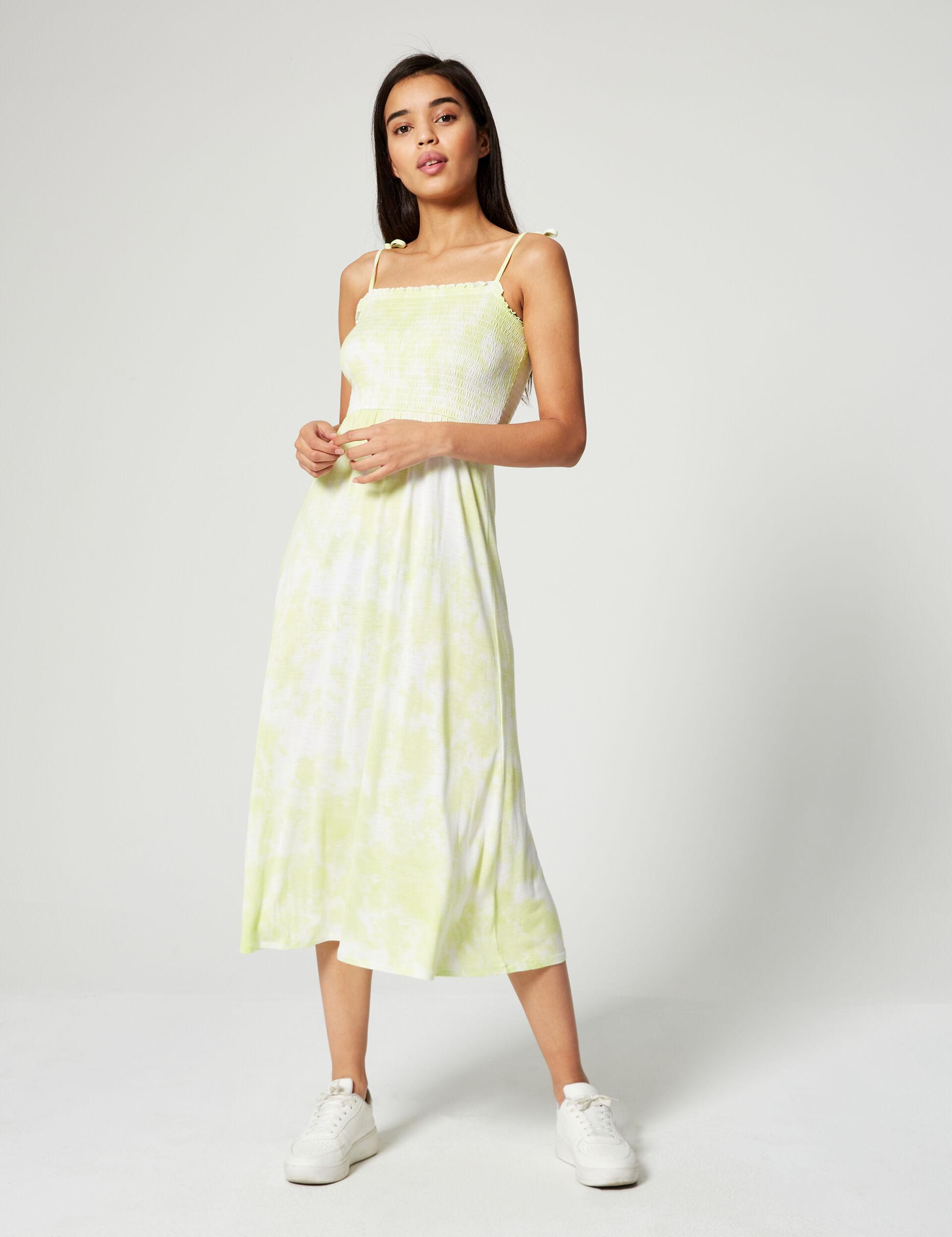 Patterned smock dress