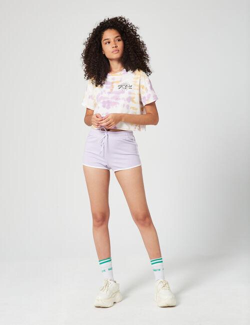 Tie dye cropped T-shirt