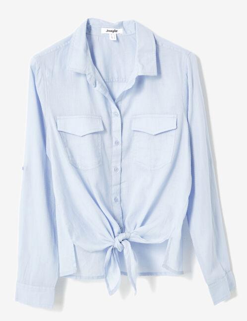 chemise à nouer bleu clair