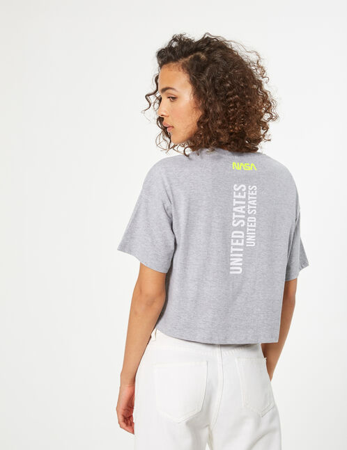 Tee-shirt crop nasa