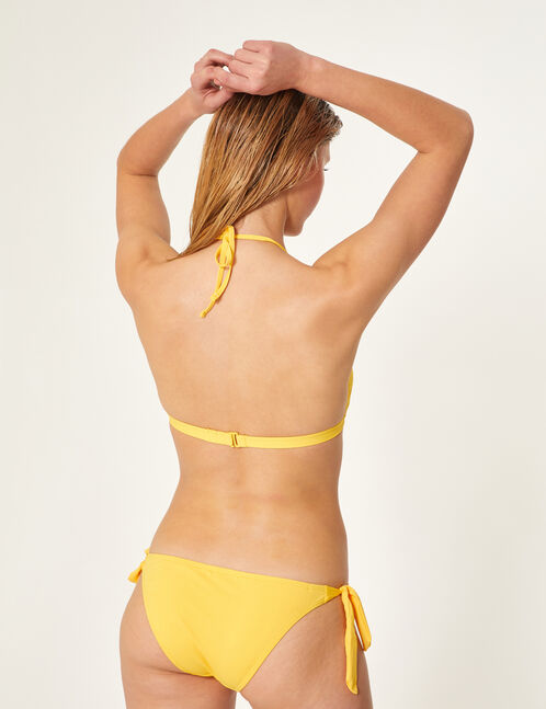 Ochre bikini set with frill detail