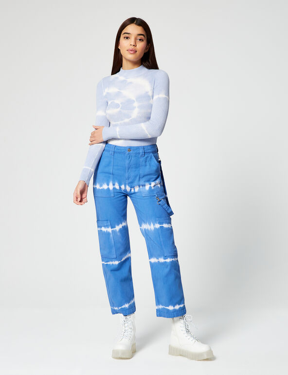 Tie-dye cargo pants