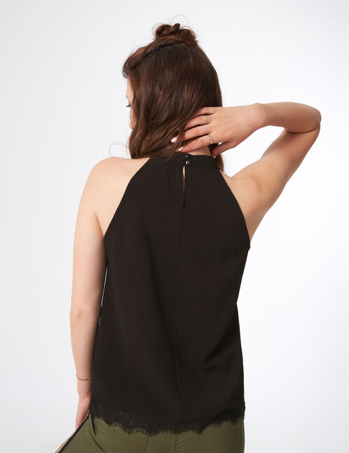 blouse finitions dentelle noire