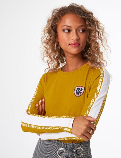 tee-shirt ultimate girl ocre