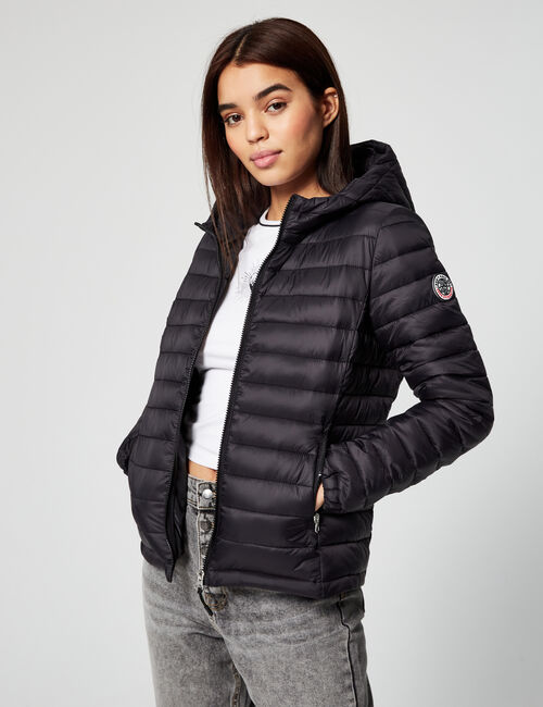Lightweight padded jacket with hood