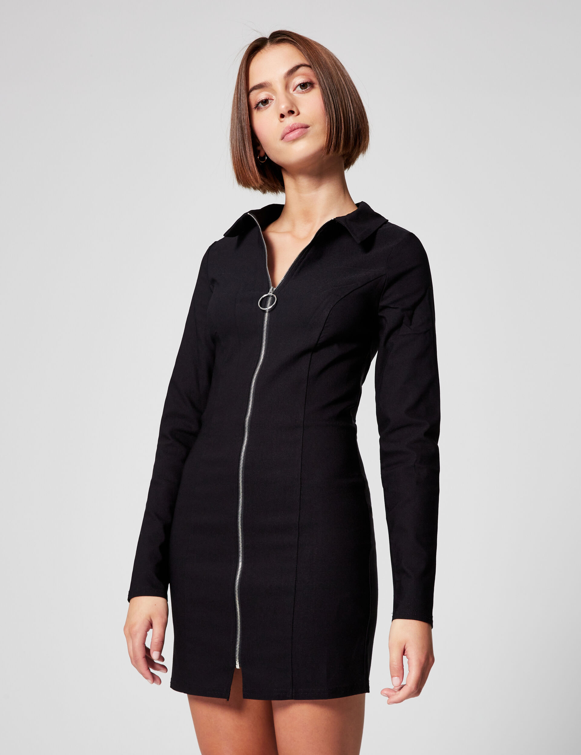 Fitted zipped dress