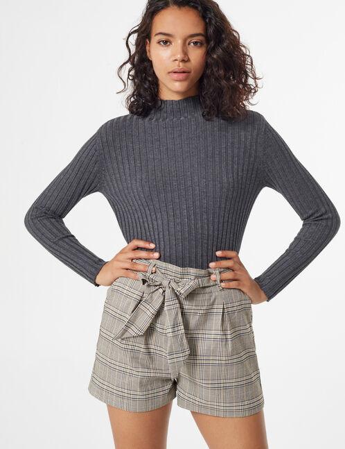 glen check shorts