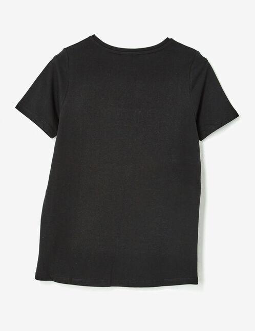 tee-shirt message en relief noir