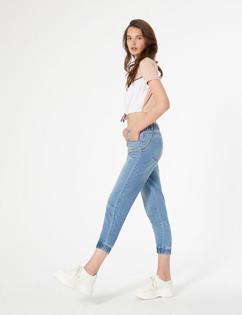 cargo jeans with chain