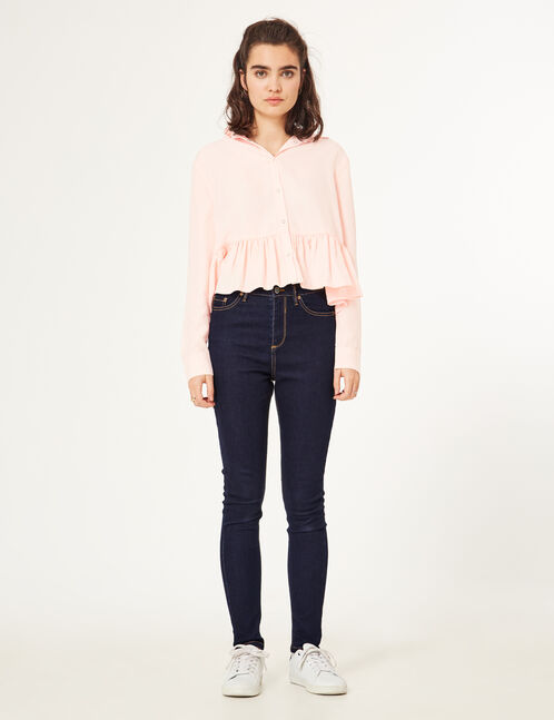 Super skinny ripped bleached Jeans
