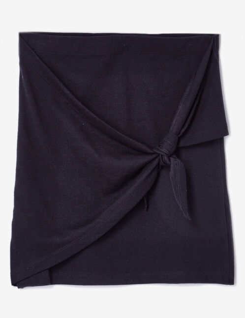 jupe tube à nouer noire