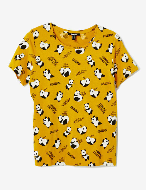 Ochre printed T-shirt