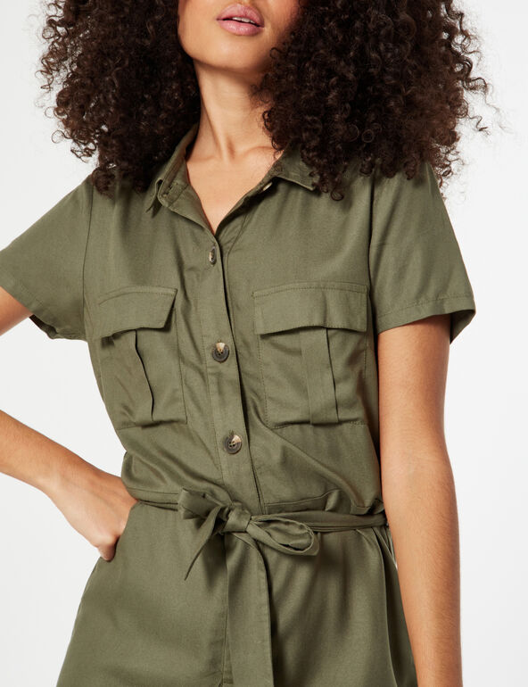 Playsuit with pockets