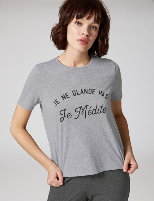 Grey pyjamas with text design detail