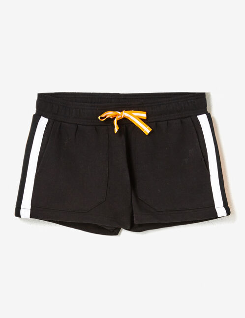 short molleton noir