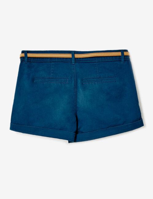 short avec ceinture bleu marine