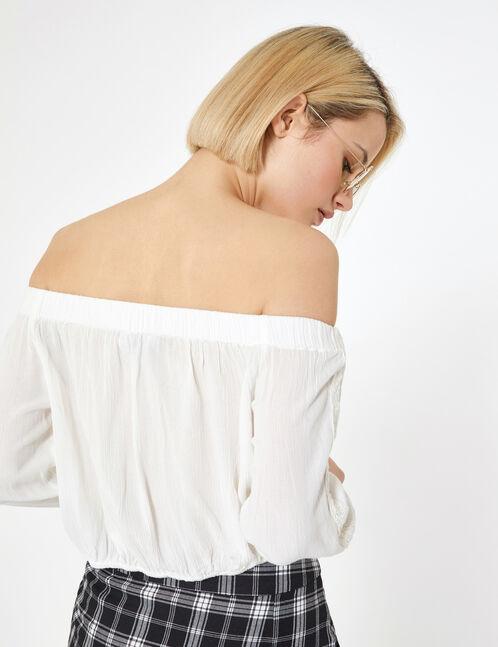 blouse épaules dénudées écru