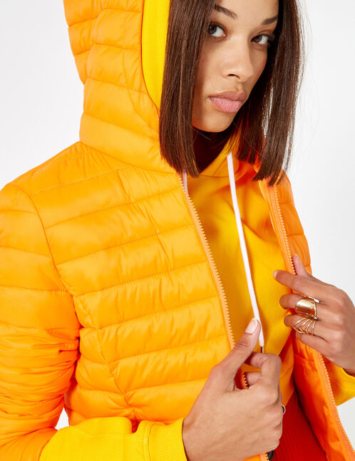 Orange lightweight padded jacket
