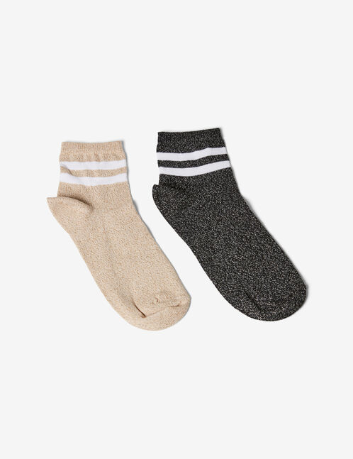 Gold and black sports-style socks