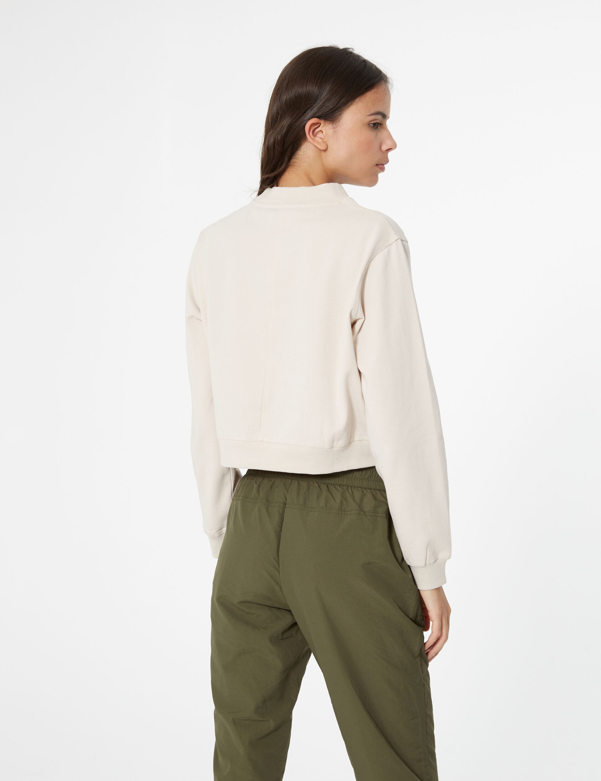 Basic high collar sweatshirt