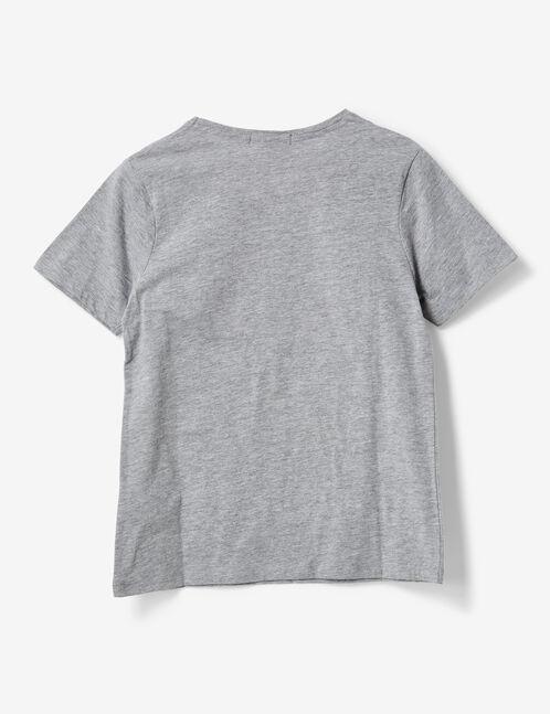 """Grey marl tricolour """"dear"""" T-shirt"""