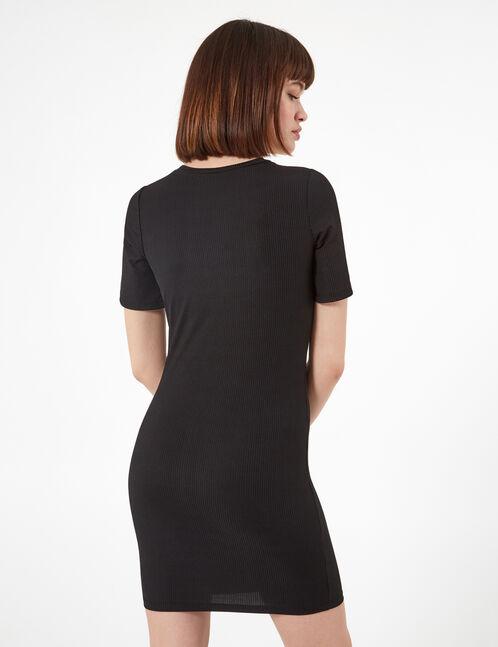 robe avec perles noire