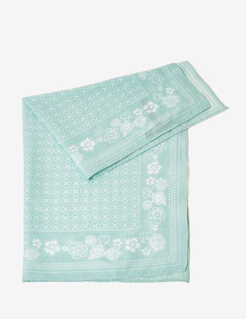 Light blue floral bandana