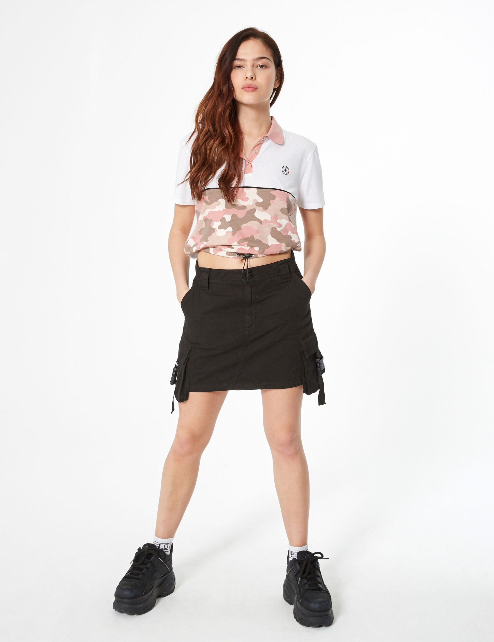 Cargo-style skirt