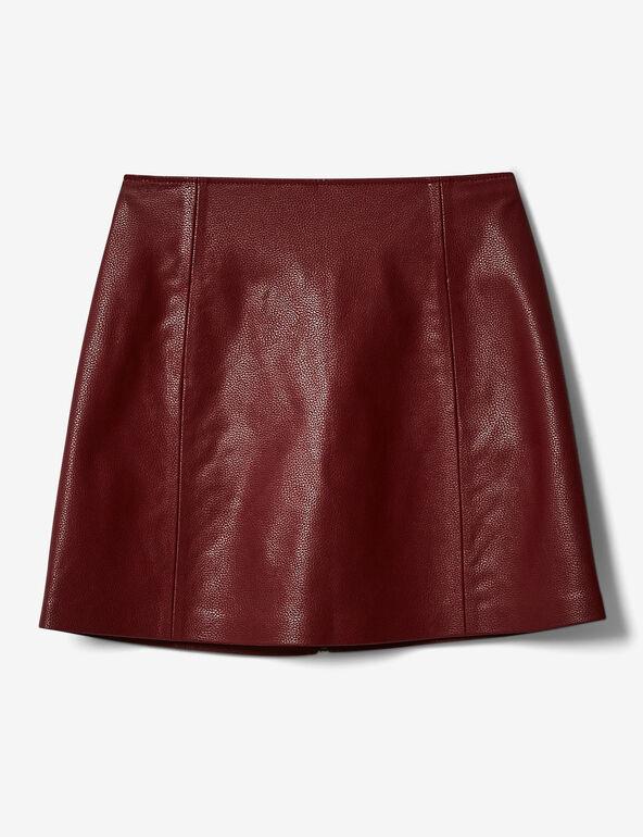jupe avec découpes et zip bordeaux
