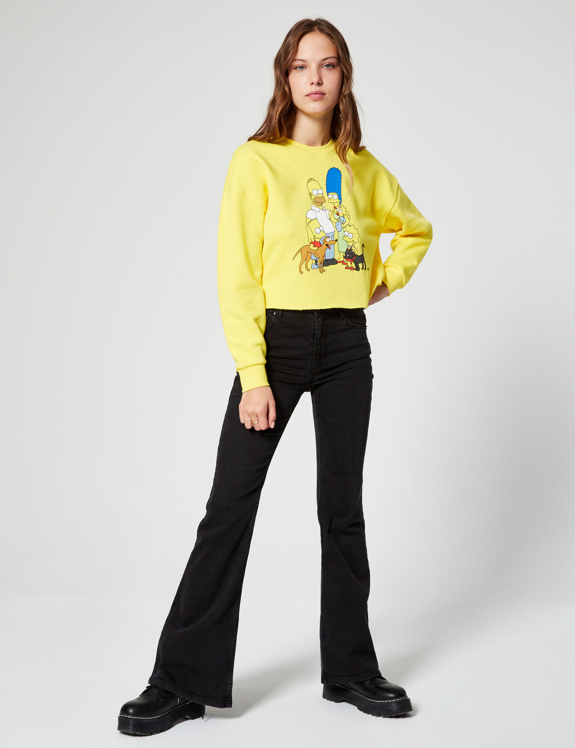 The Simpsons cropped sweatshirt