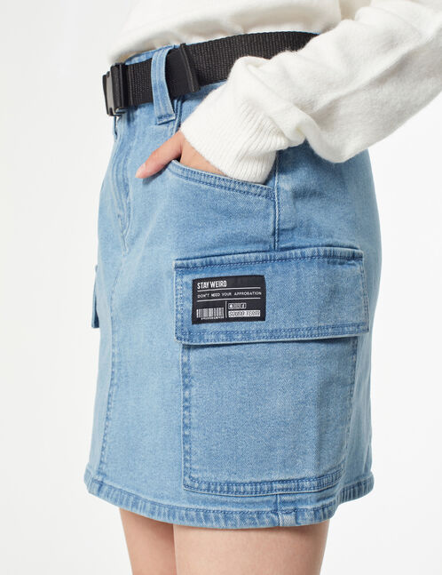 Jupe en jean cargo