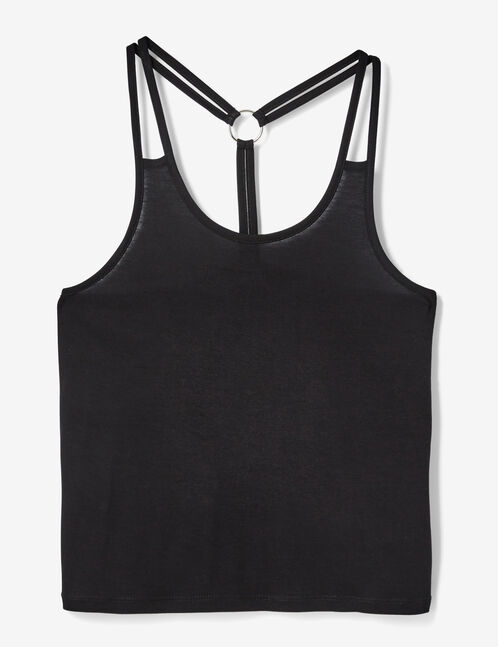 Black camisole with ring detail